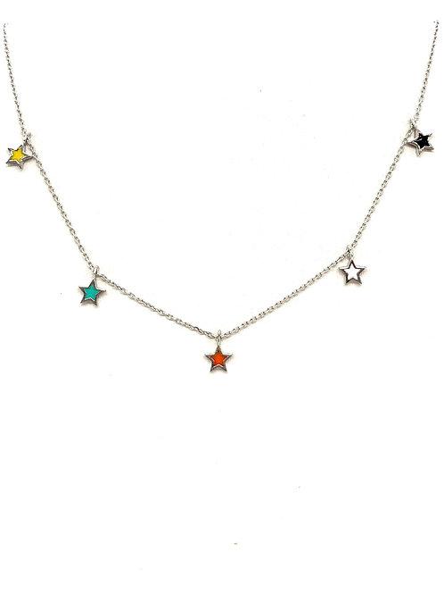 Multicolor Star Necklace
