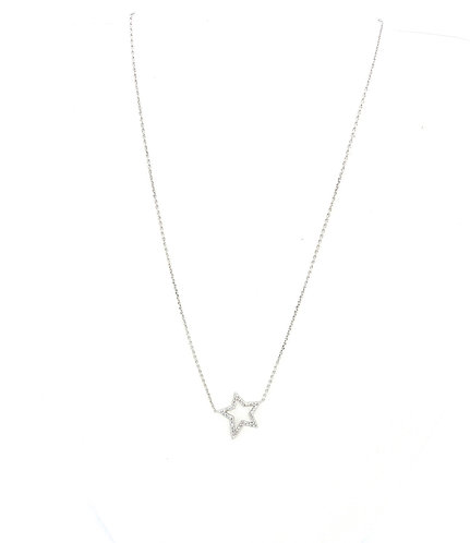 Open Star Cz necklace