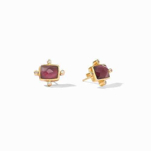 Julie Vos Clara Gold Stud Earrings