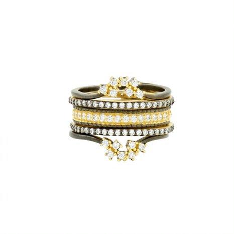 Freida Rothman Pave 5-Stack Ring