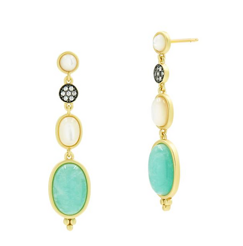 Freida Rothman Touch of Turquoise Gradient Drop Earrings