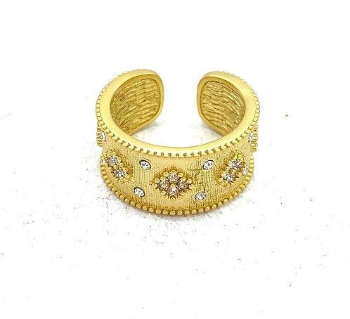 Matte Gold Cuff Ring