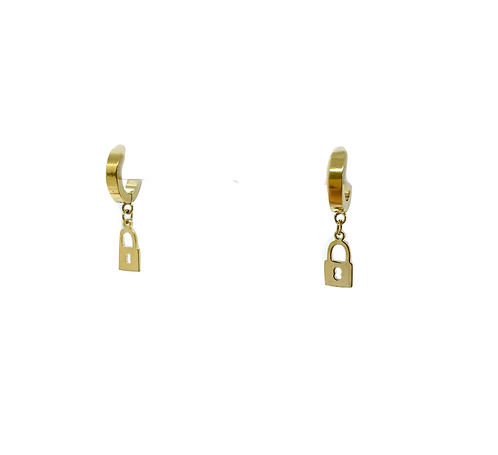 Lock and Key Earrings