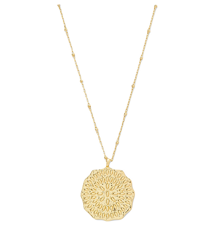 Gorjana Mosaic Coin Necklace
