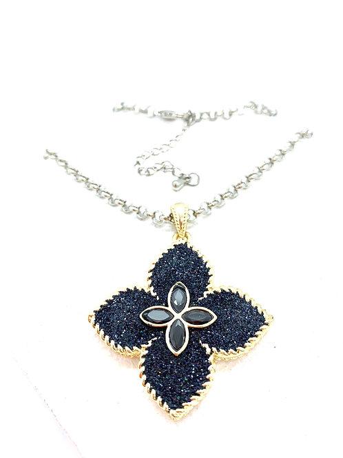 Sapphire cz pendant