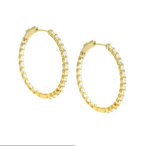 Anastasia 30 Gold Hoop