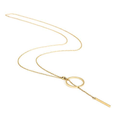 Circle Lariat Necklace