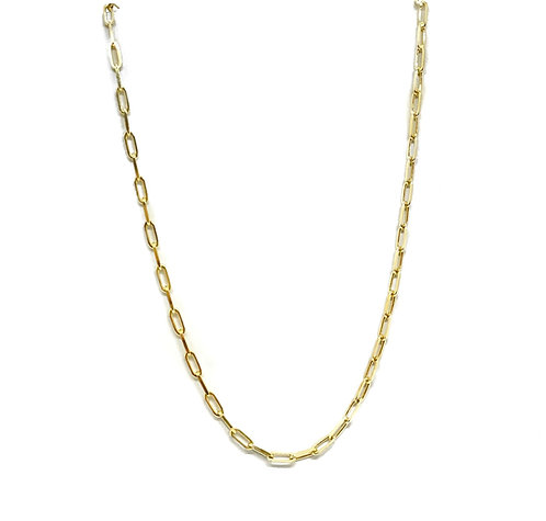 Italian Sterling Paperclip Chains- Small Link 18inch