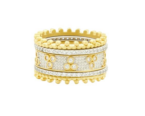 Freida Rothman Tie the Knot Stacking Rings