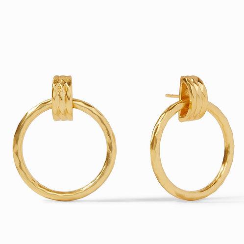Julie Vos Savannah Doorknocker Earrings Gold