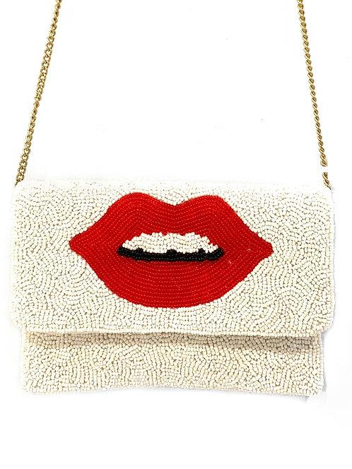 Lip Beaded Handbag