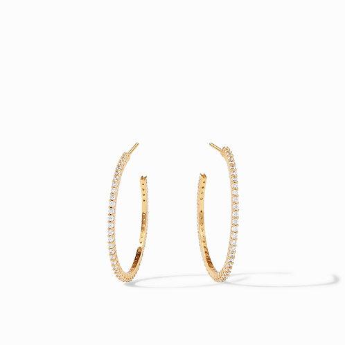 Julie Vos Paris Hoop Earrings CZ
