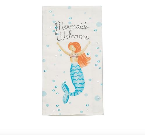 Mudpie Mermaid Welcome Towel