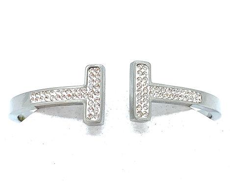 Double T CZ Bracelet