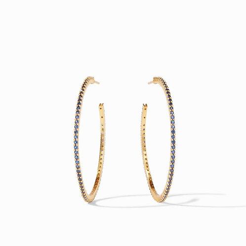 Julie Vos Paris Hoop Earrings Sapphire Blue