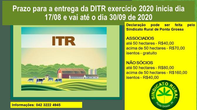 Prazo de entrega da declaração do ITR acaba nesta quarta