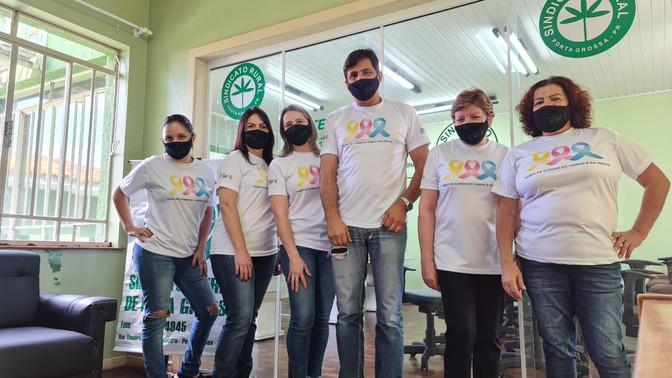 Equipe do Sindicato Rural de Ponta Grossa adere a campanha da FAEP