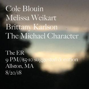 Cole Blouin/Melissa Weikart & more