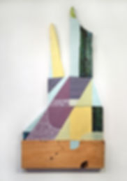 """Valerie Wilcox's sculptural painting using mixed media, artwork is titled """"Untitled"""""""