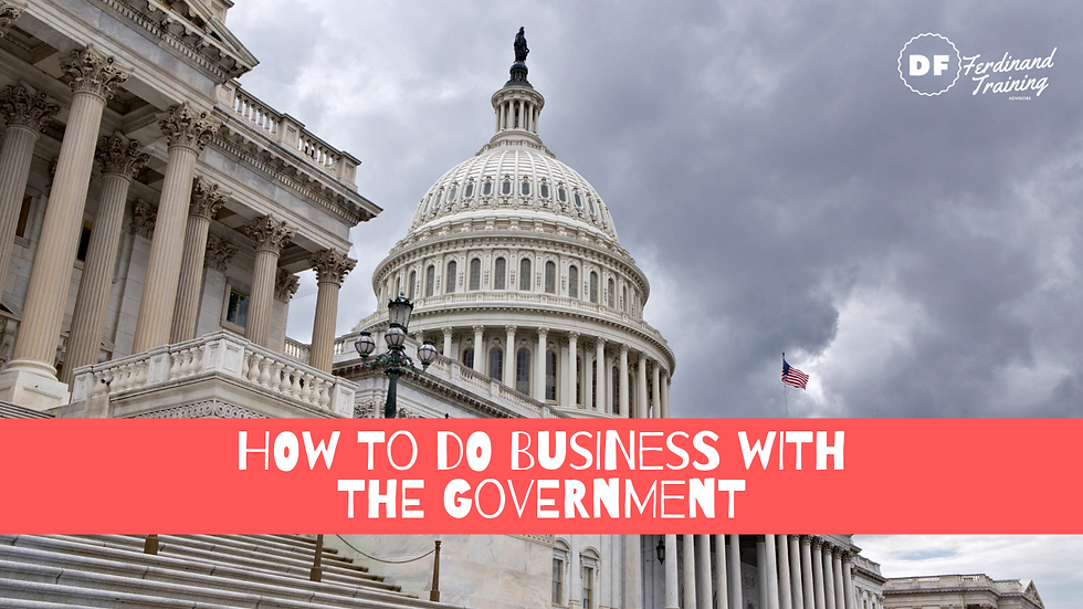 How To Do Business With The Government