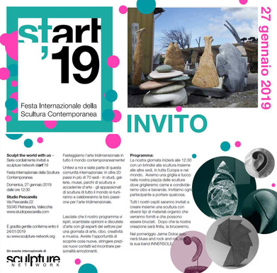 Invite to Winter Party with Sculpture Ne