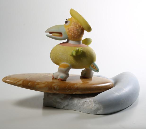 surfing bird