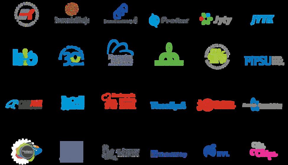 Grafipekan suunnittelemia tunnuksia, logoja ja merkkejä