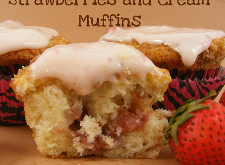 Strawberries 'n Cream Muffins