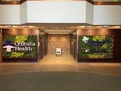 Centura Health HQ Green wall
