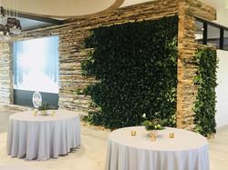 Green wall at Liberty Media HQ