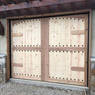 custom wood clad door