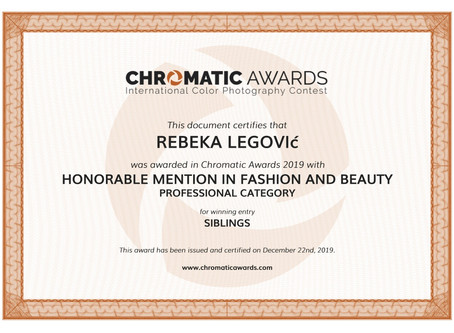 HONORABLE MENTION CHROMATIC AWARDS
