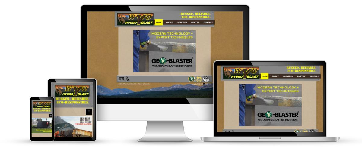 Wyo Hyrdo Blast web design