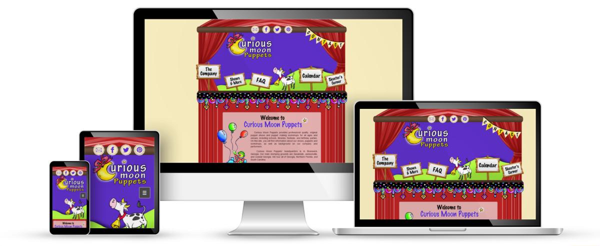 Curious Moon Puppets web design