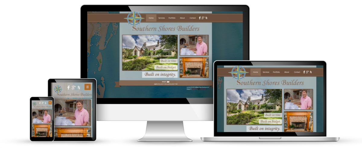 Southern Shores Builders web design