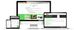 Inti Lighting web design