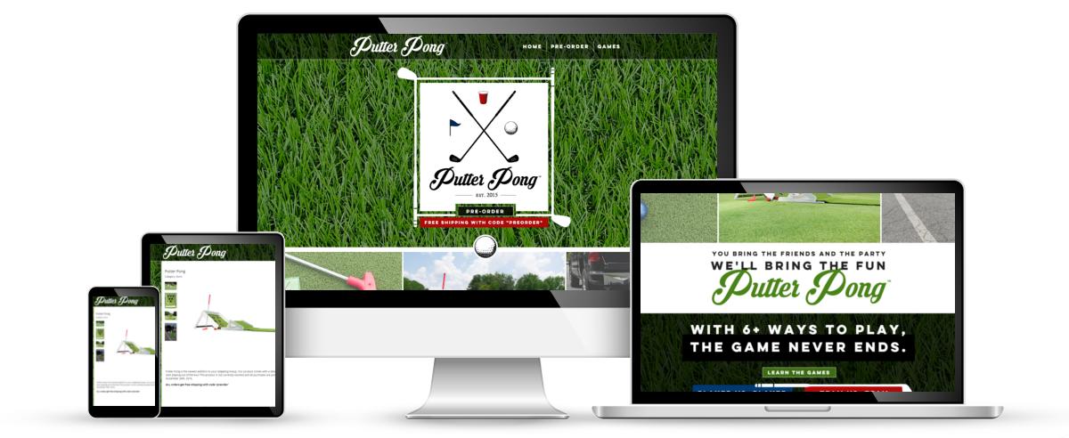 Putter Pong web design