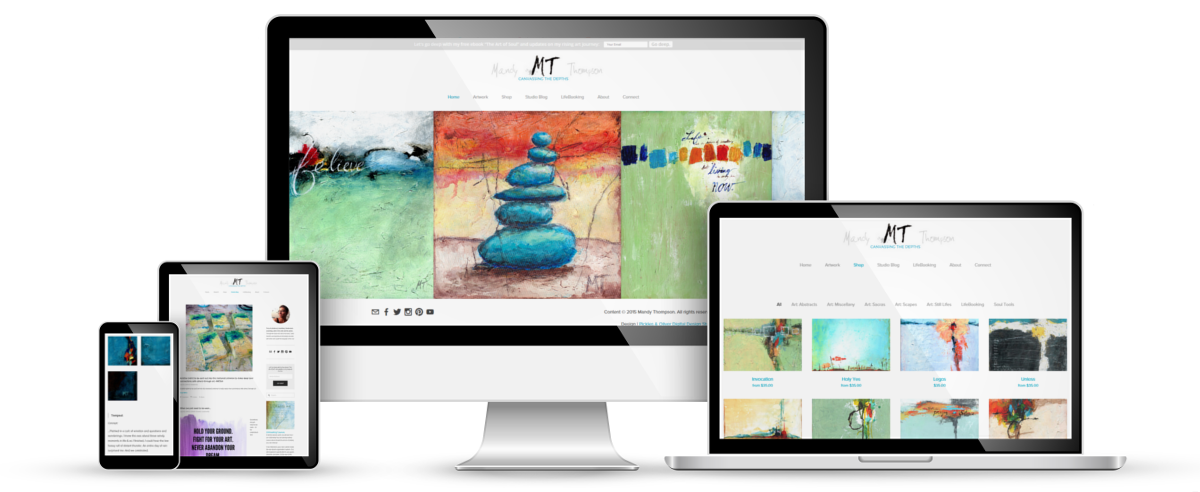 Mandy Thompson Art web design