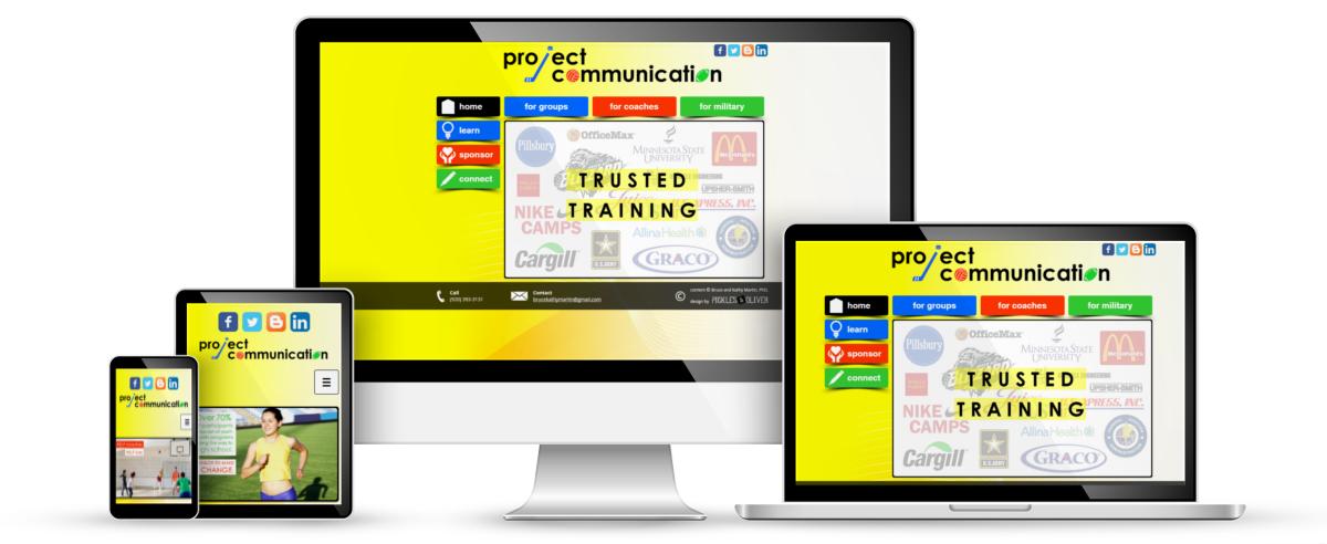 Project Communication web design