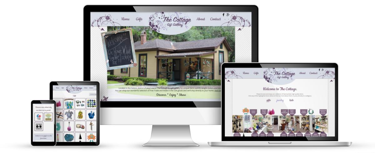 The Cottage web design