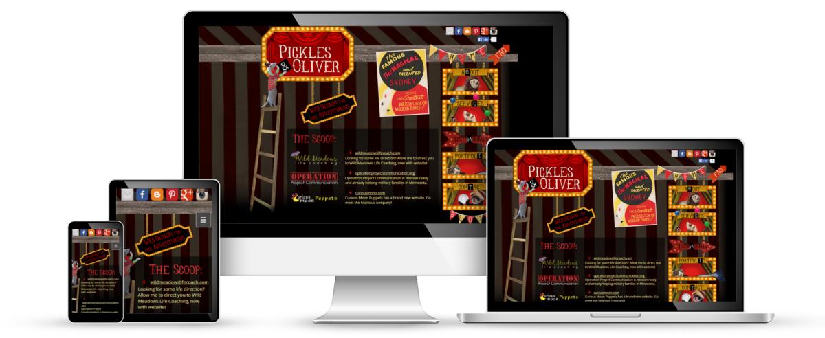 Pickles and Oliver web design