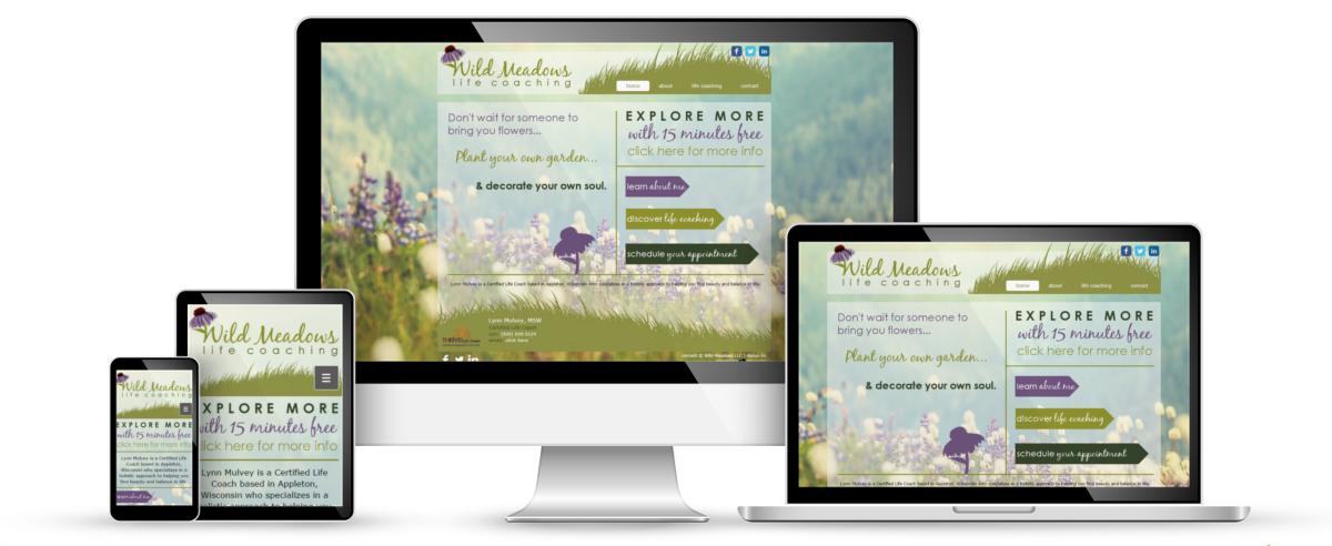 Wild Meadows Life Coaching web design