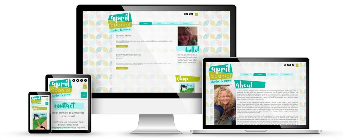 April Spaniol web design