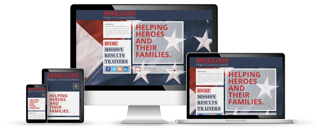 Operation Project Communication web design