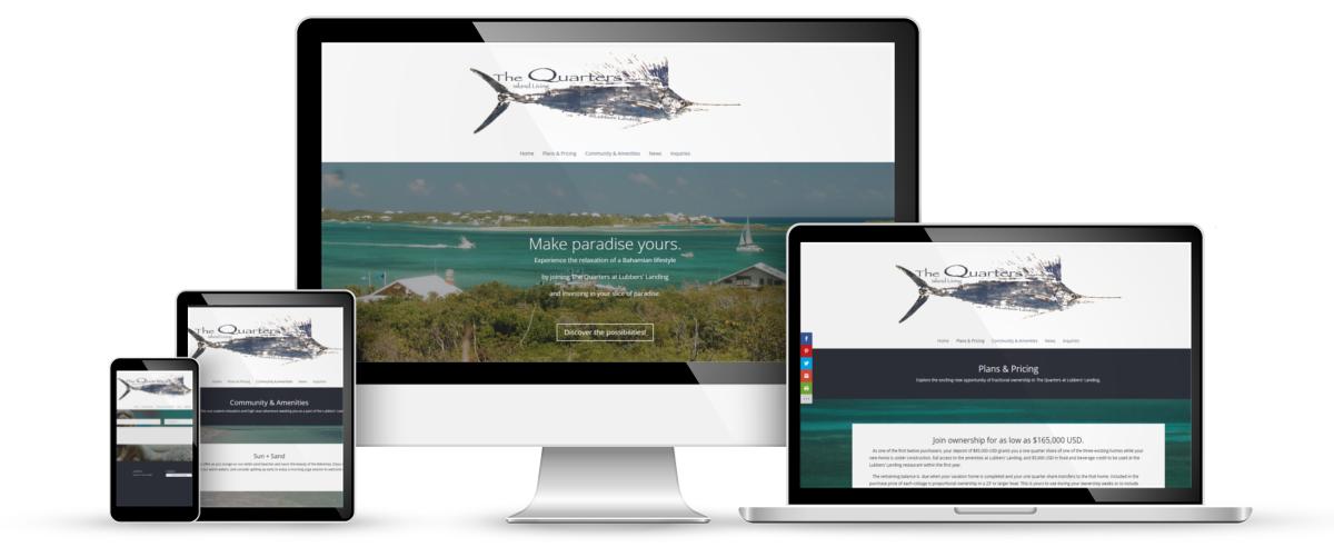 The Quarters web design