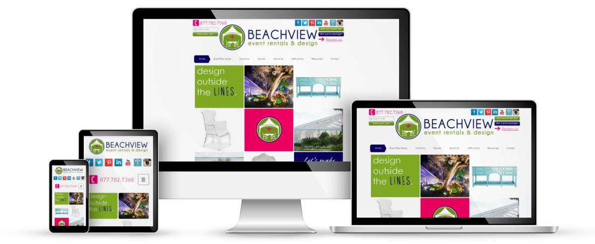 Beachview Event Rentals & Design web design