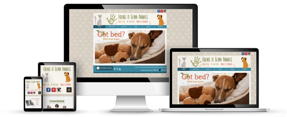 Friends of Glynn Animals web design