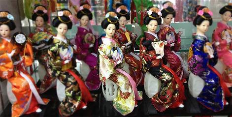 Bonecas japonesas tipo gueixa