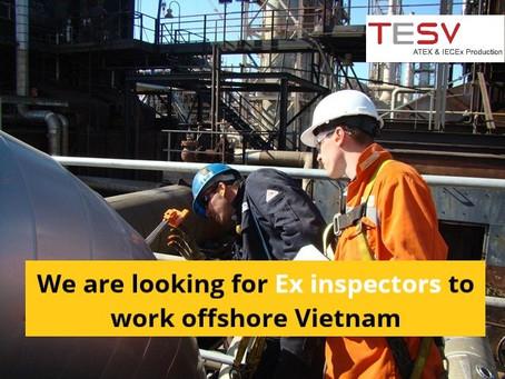 We are looking for Ex inspectors to work offshore Vietnam