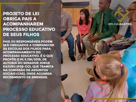 Projeto de Lei obriga pais a acompanharem  processo educativo de seus filhos